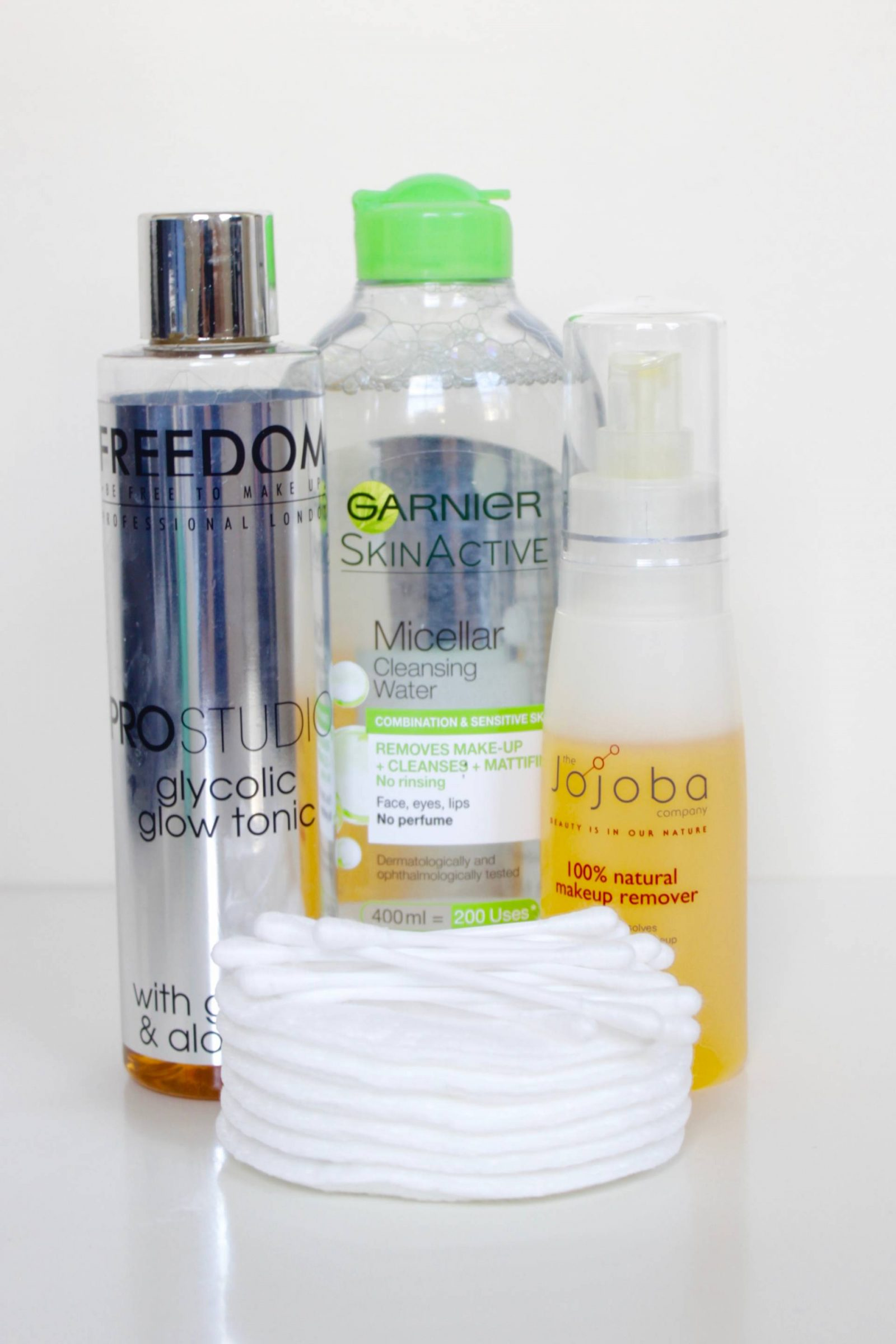 makeup removing and toning winter skincare