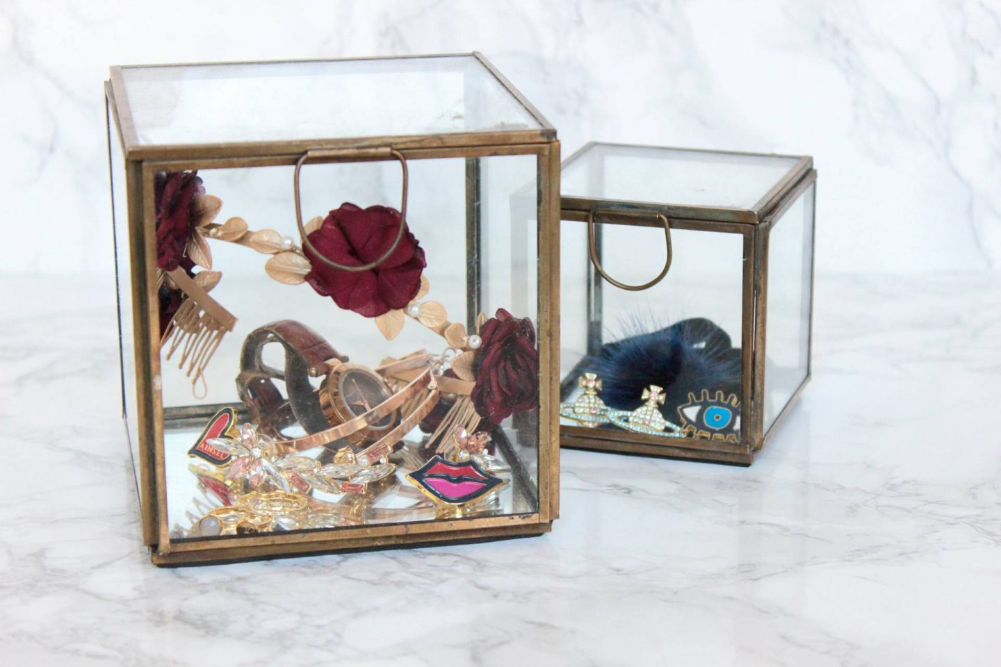 jewellery storage glass box