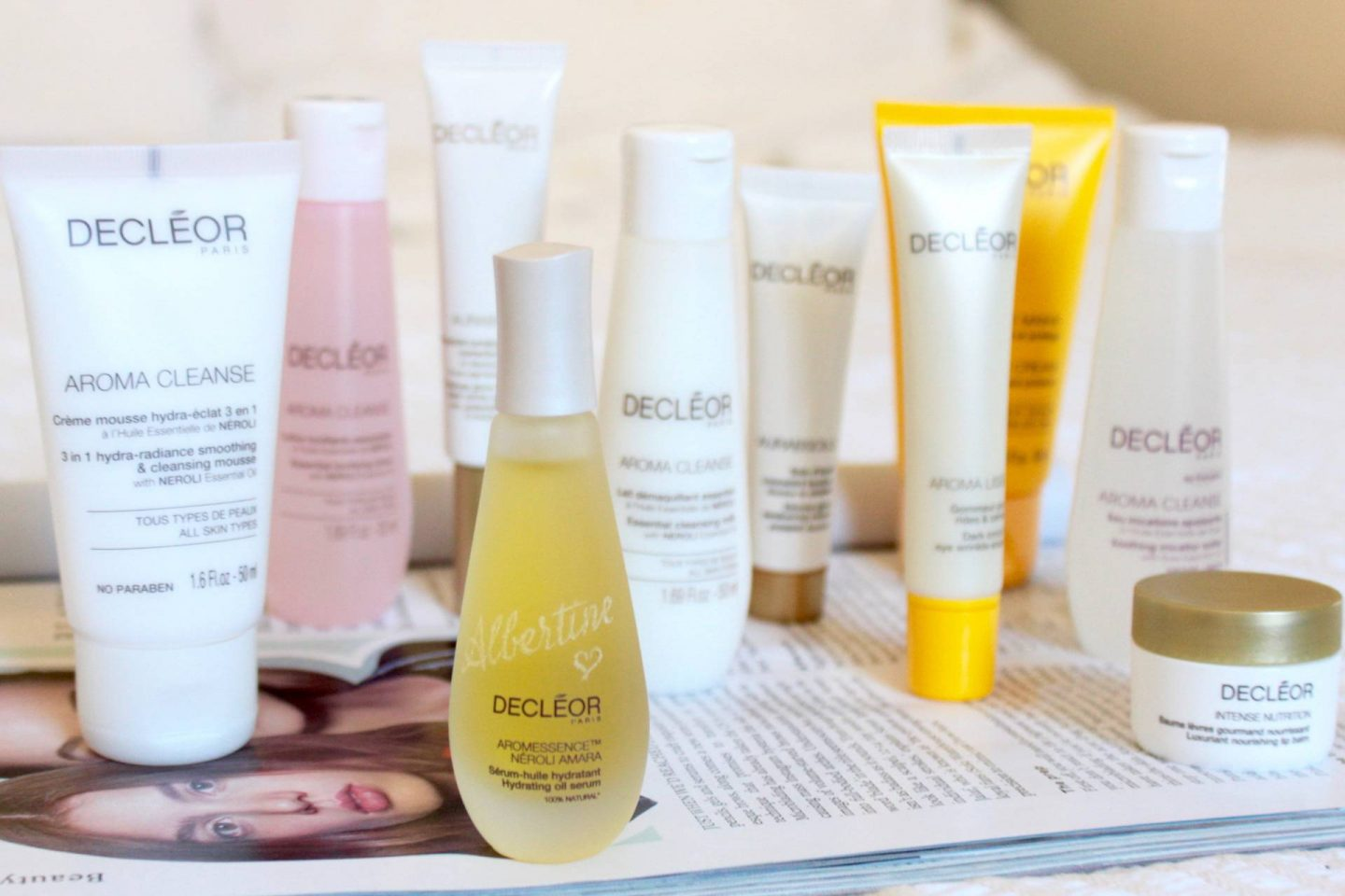 Decleor full collection skincare samples