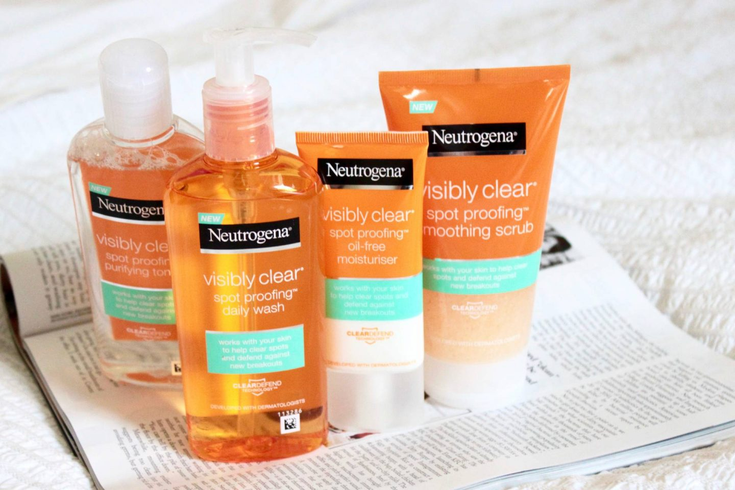 how to use neutrogena visibly clear