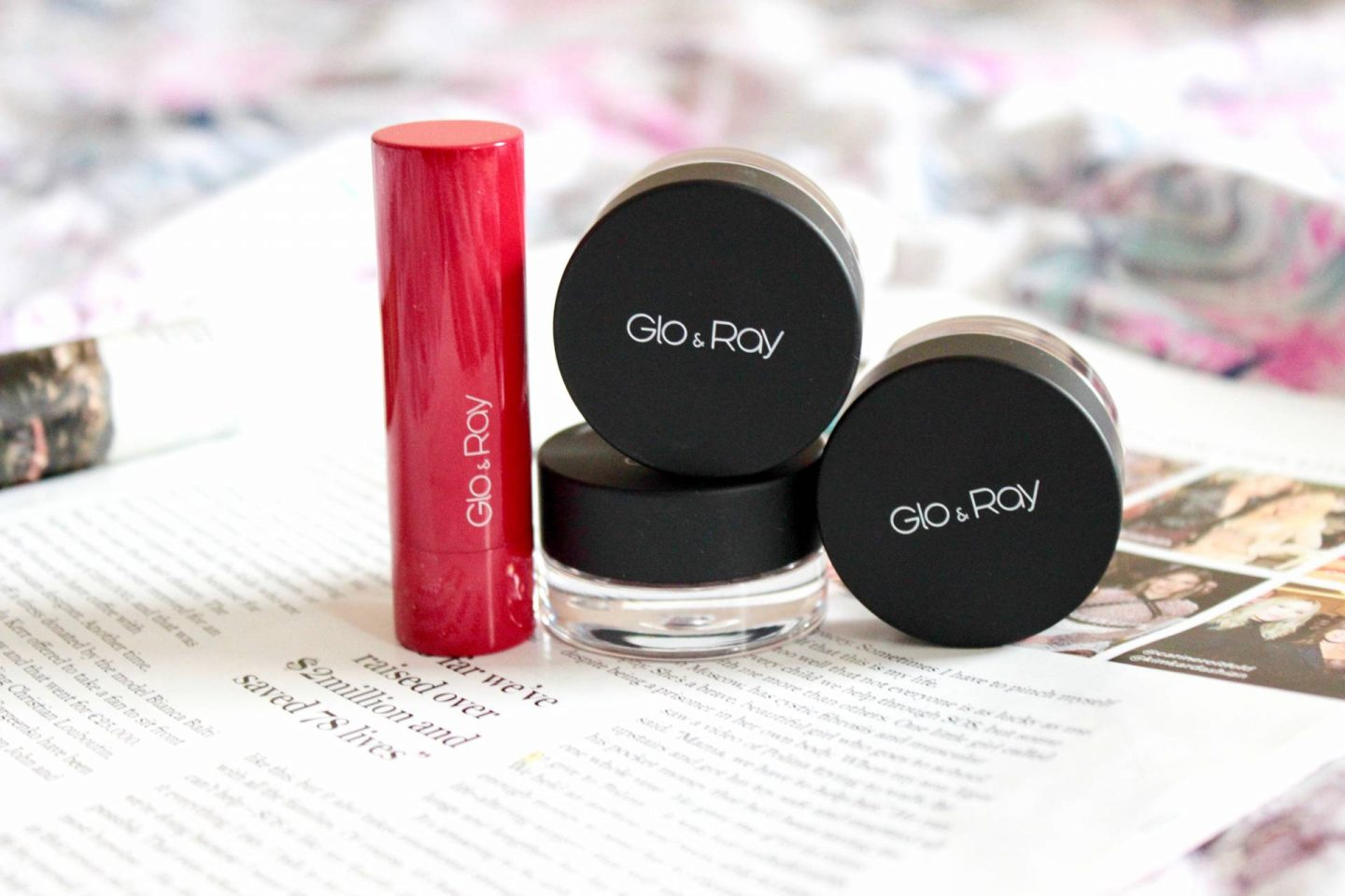 Glo & Ray new makeup products