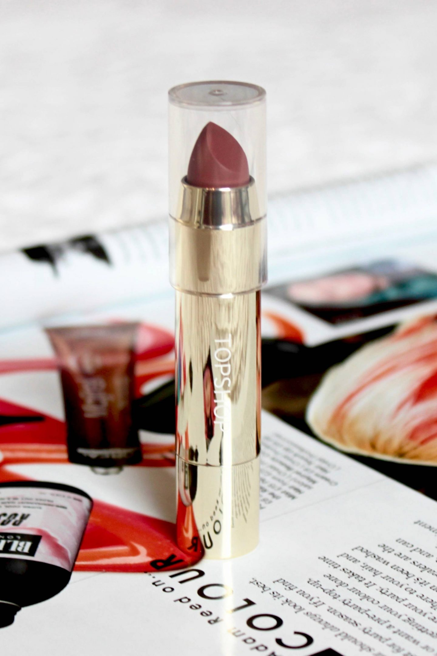Topshop Beauty gold packaging riddle lip bullet