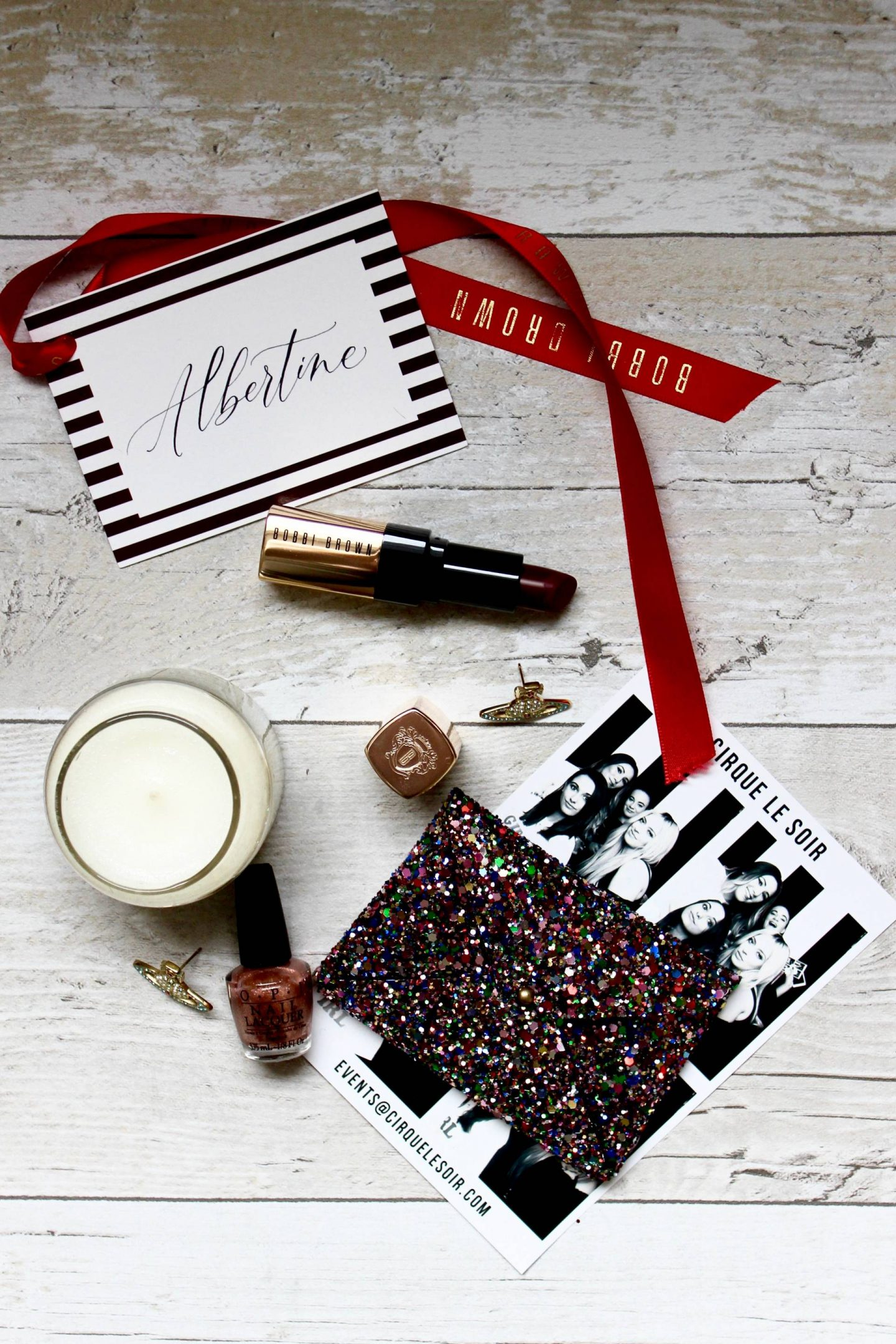 Albertine New Year's Eve flatlay