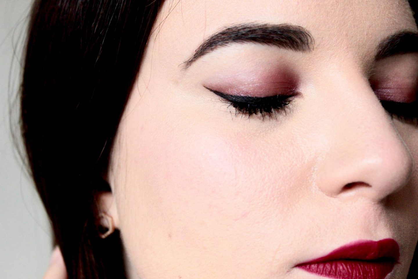 Bourjois in mave smokey eyeshadow look