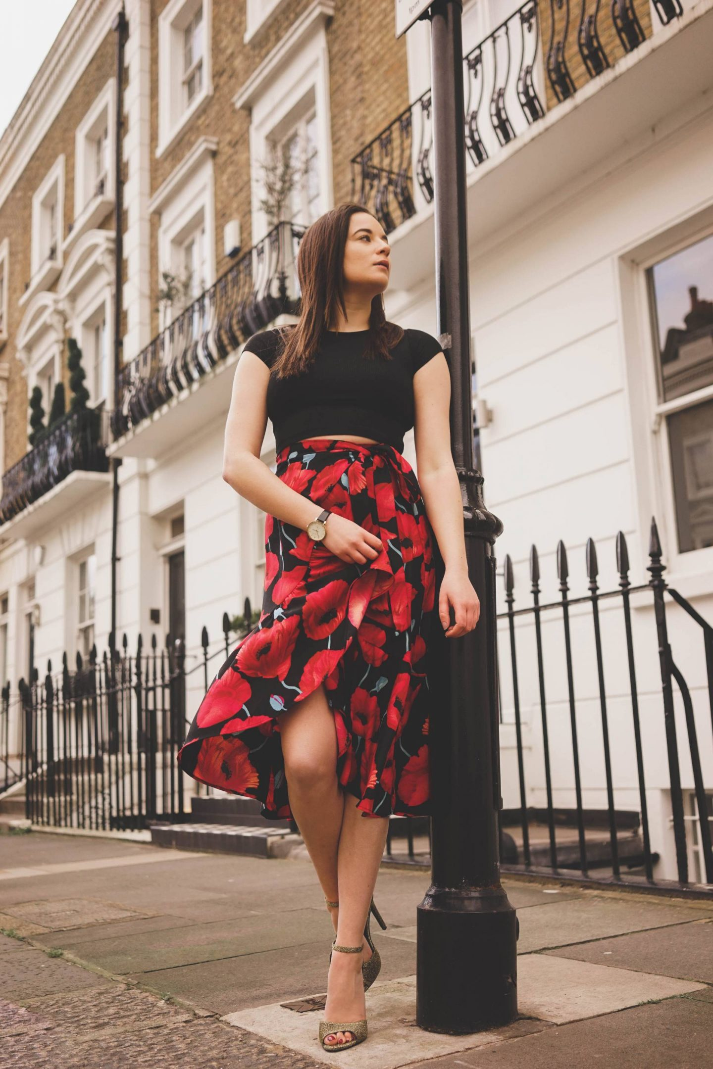 London Sloane Square outfit photoshoot