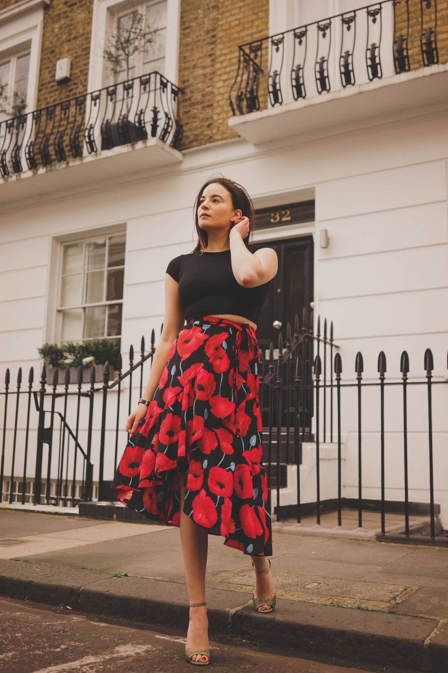 Sloane Square spring outfit photoshoot