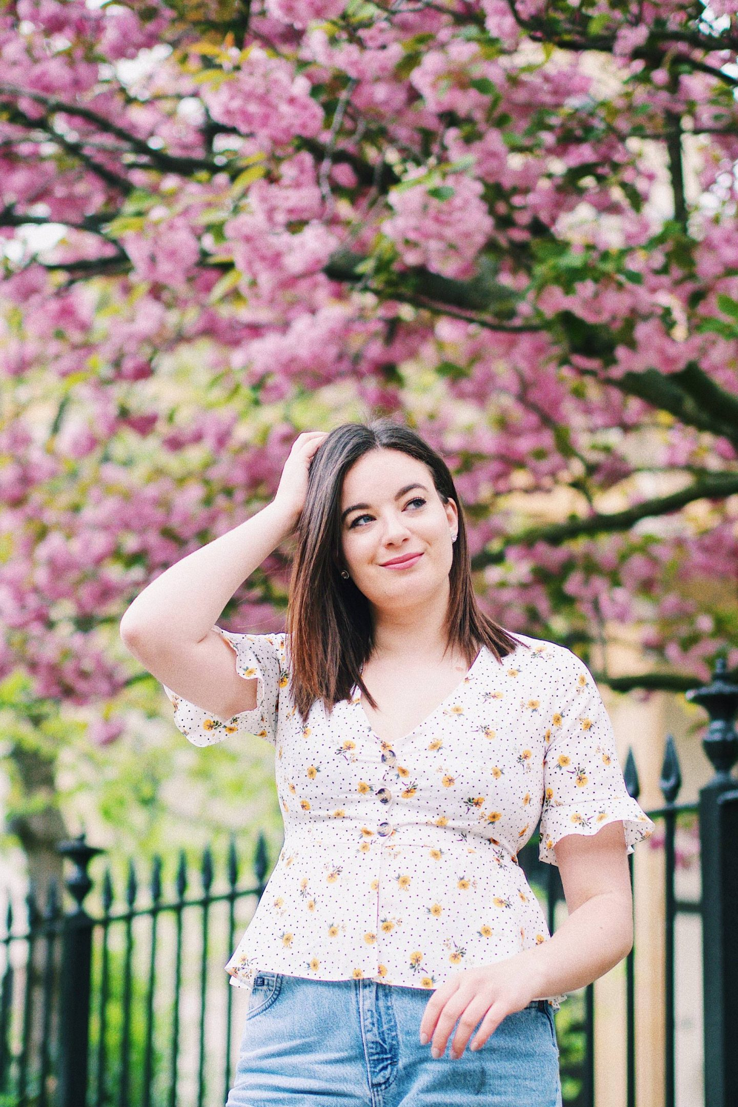 Primark yellow blossom blouse