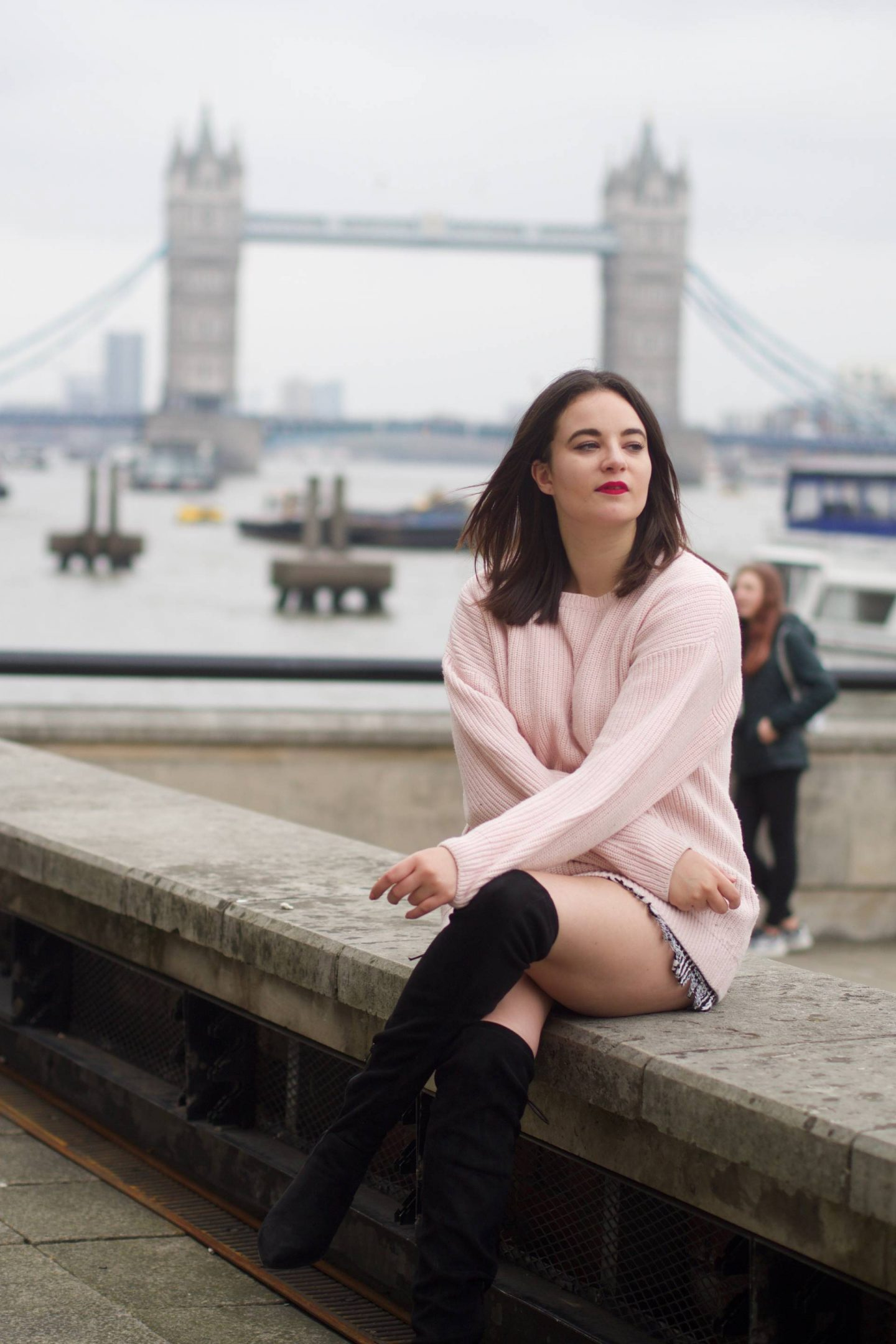 Pastel pink oversized jumper New Look
