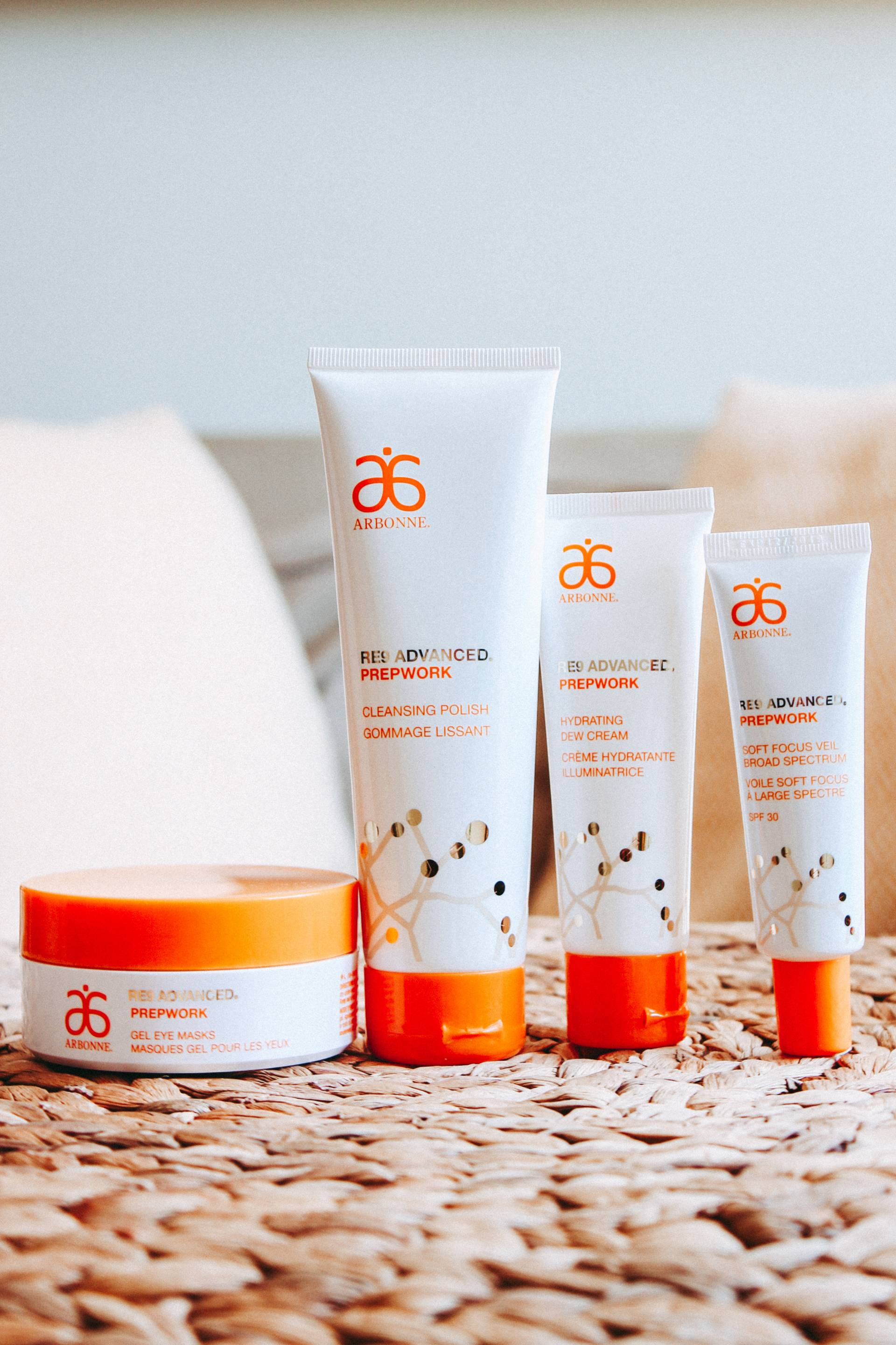 Arbonne RE9 Advanced Prepwork skincare range