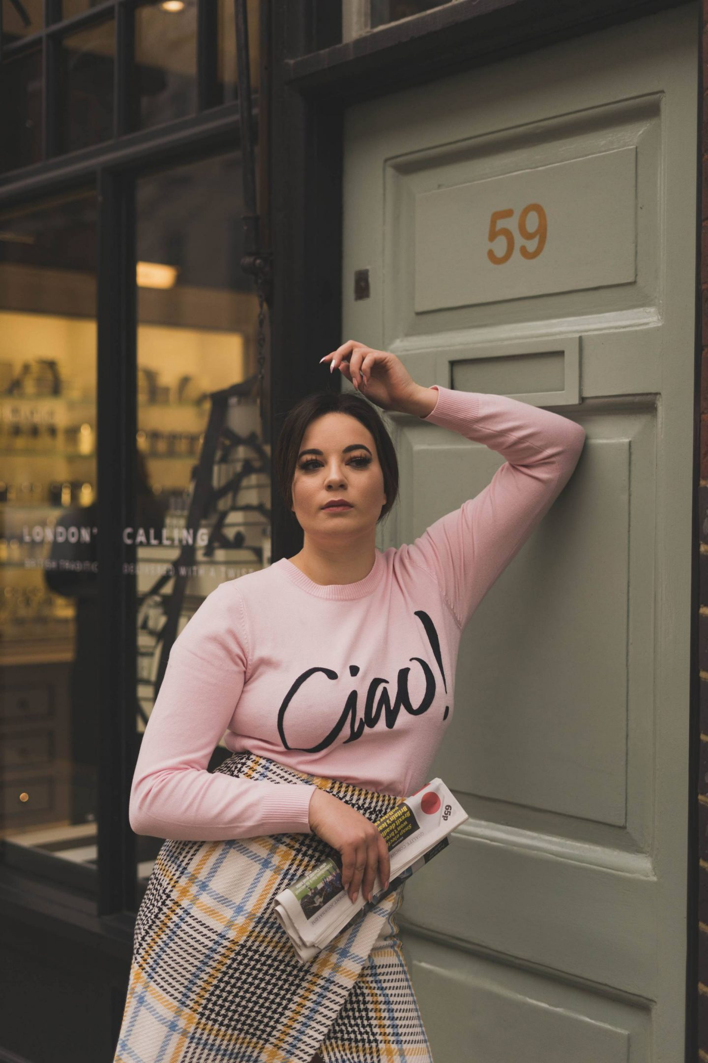 Joanie clothing Ciao baby pink jumper