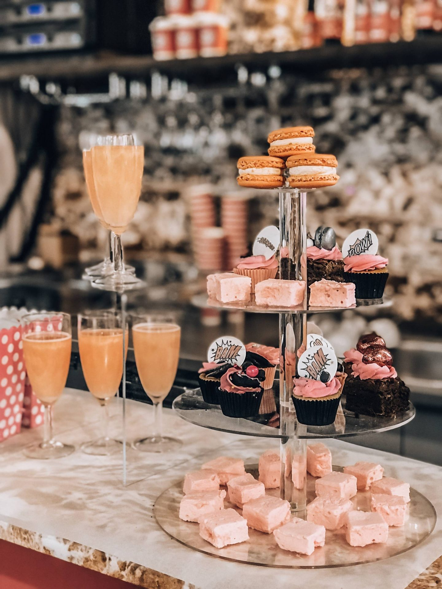 pink Prosecco tower