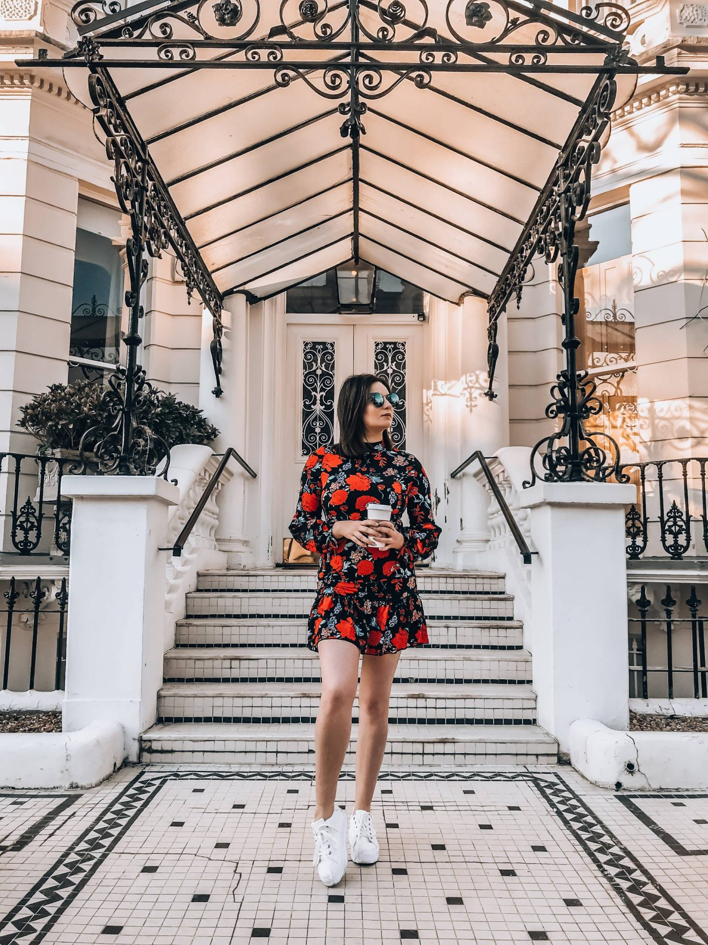 ASOS red floral mini dress