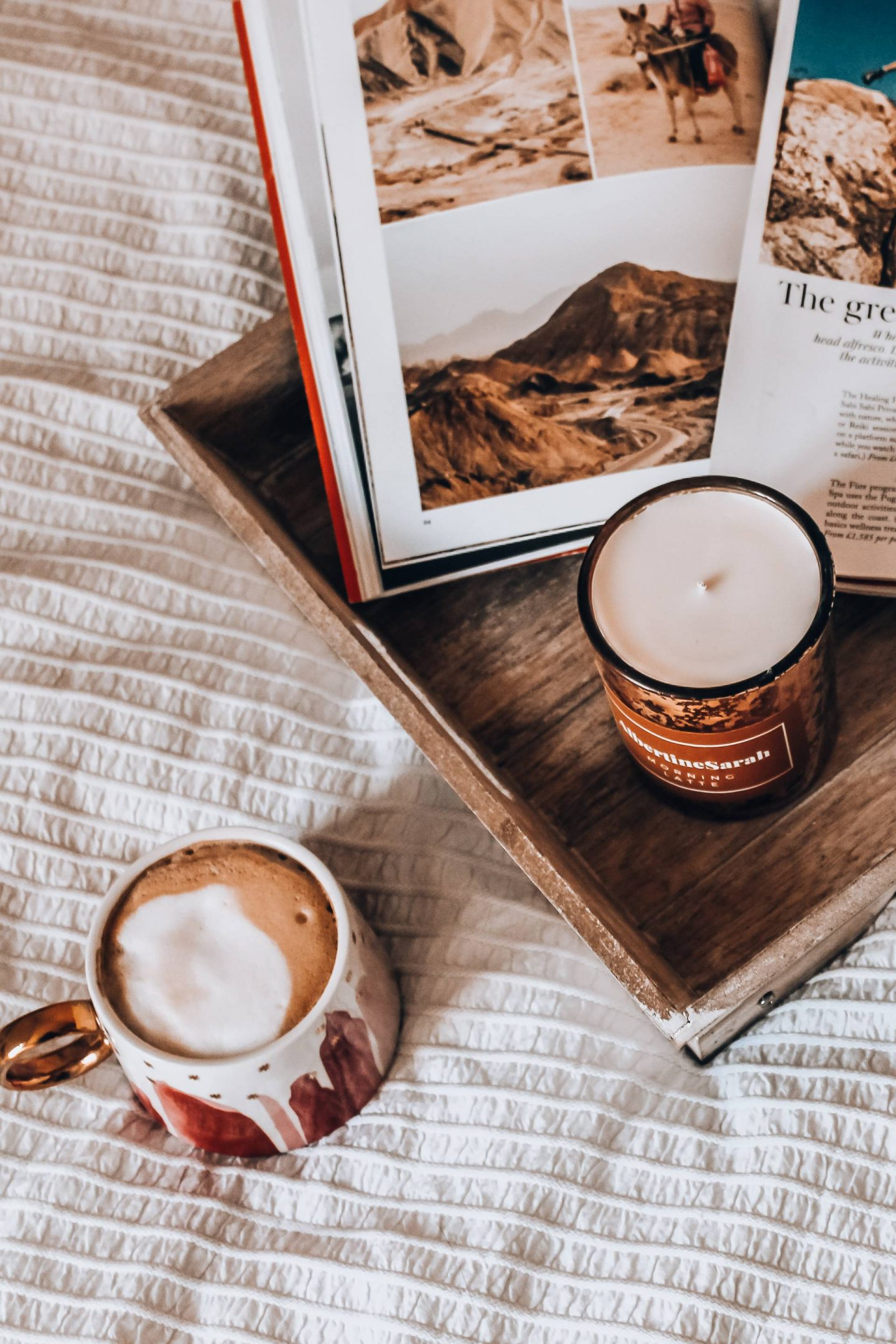 AlbertineSarah Morning Latte candle