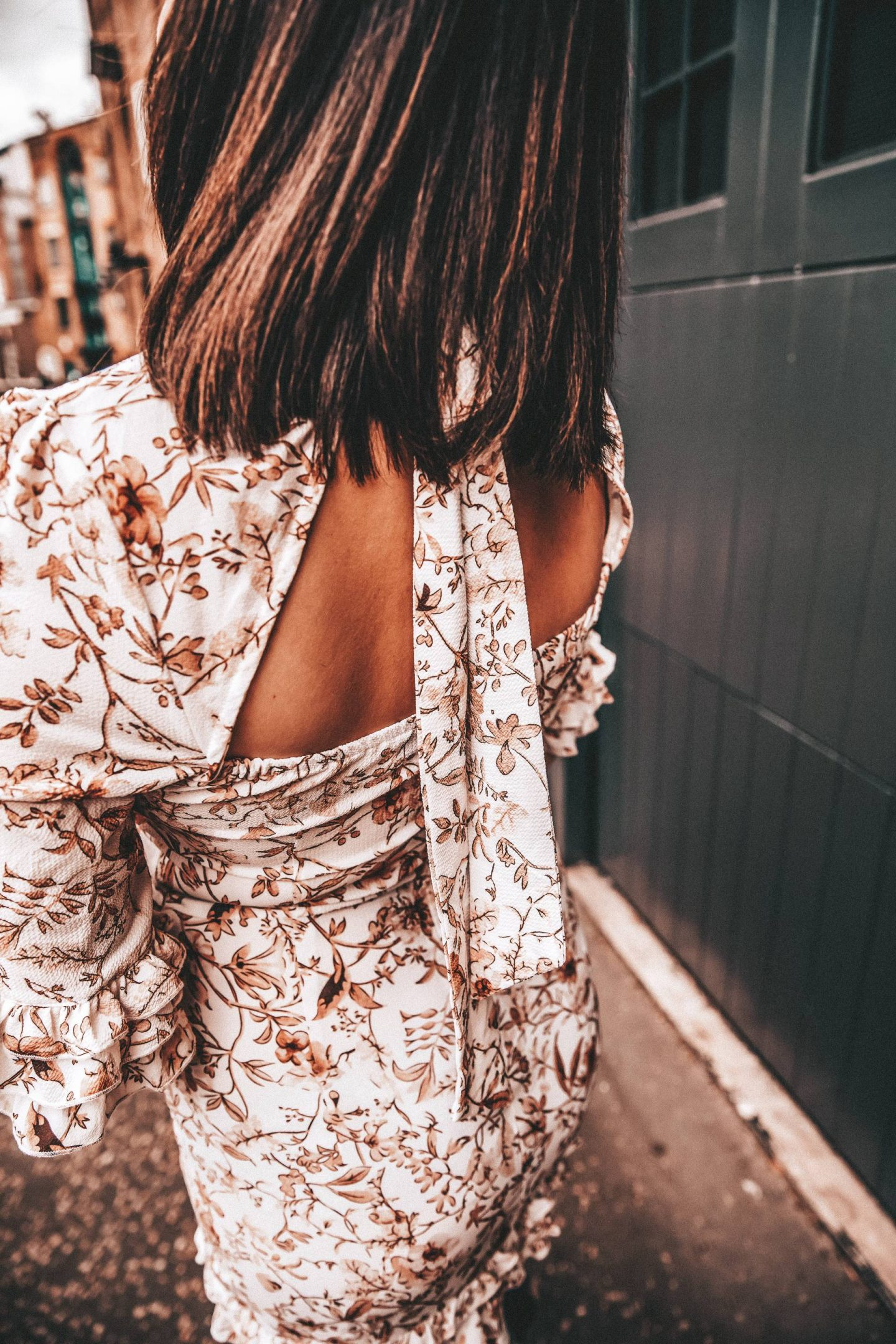 In The Style Backless dress