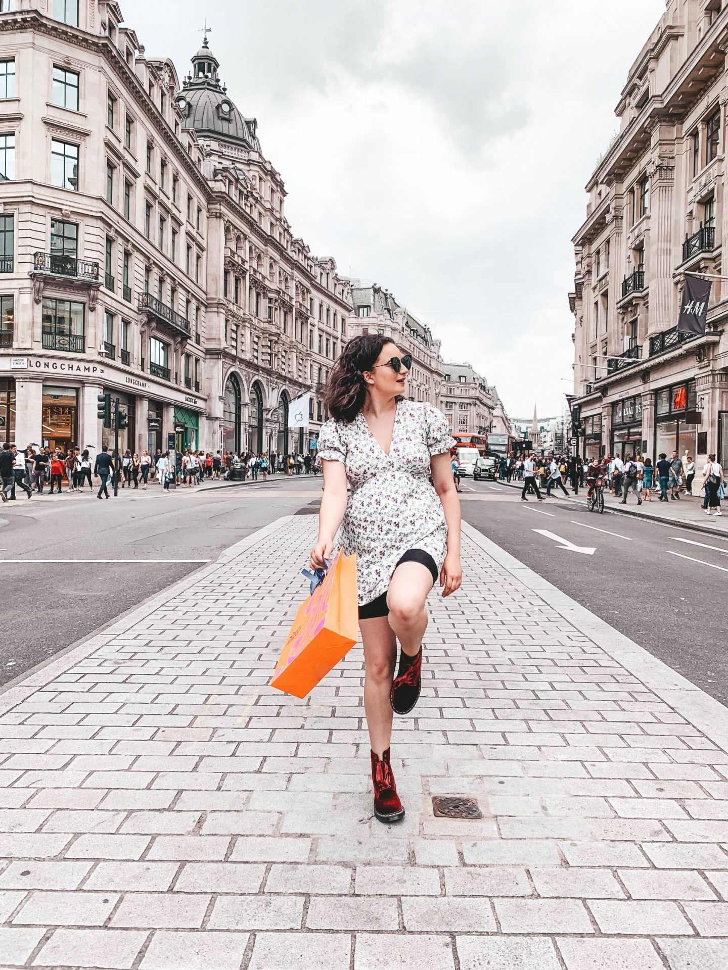 Regents Street shopping outfit