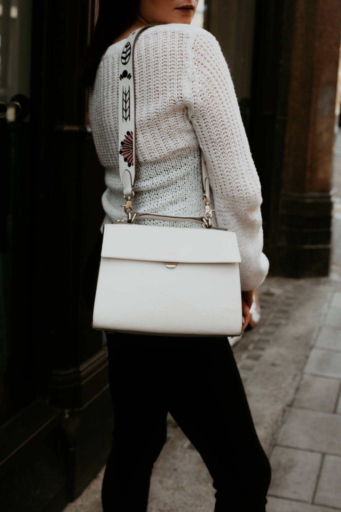 Radley structured white handbag