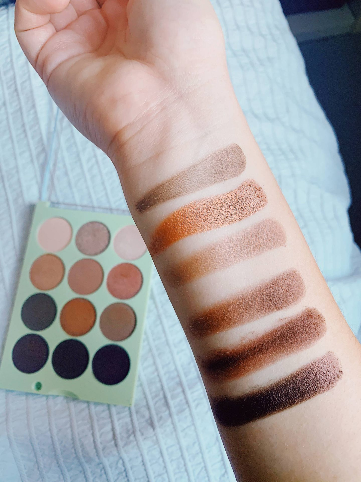 Natural Beauty dark swatches on skin