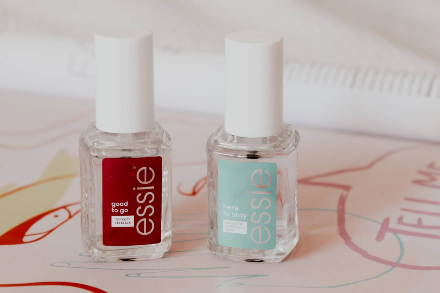 Essie base and top coat