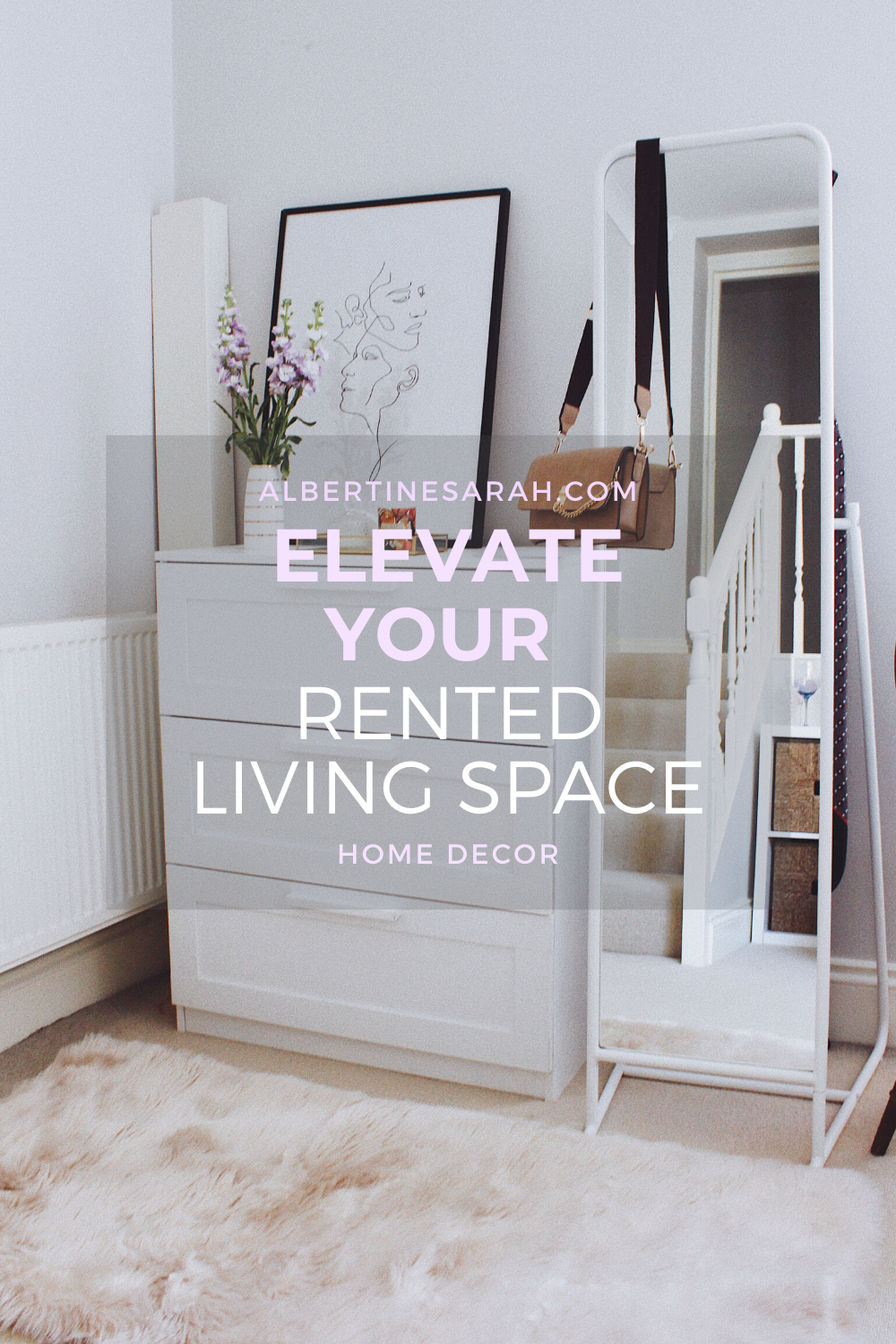 Elevate your rented living space Pinterest graphic
